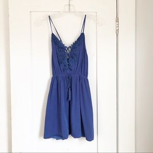 Missguided Blue Lace Mini Dress